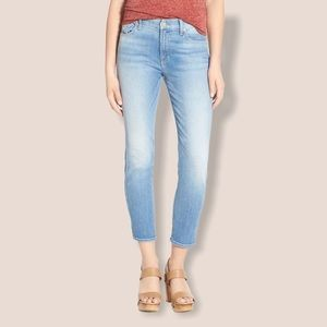 7 For All Mankind The Crop Skinny Sz 24